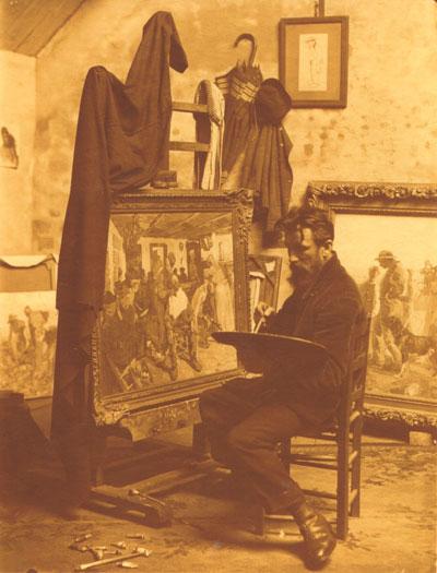 Marten-Melsen-au-chevalet,-1930-(Barbier)