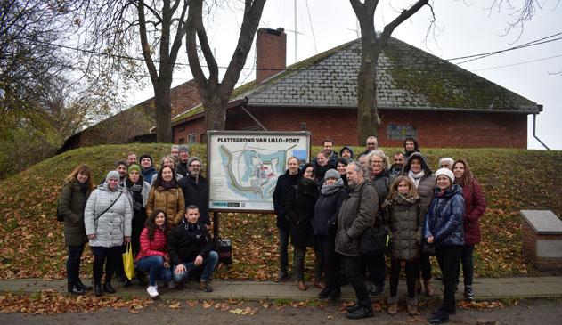 Europese delegatie bezocht de forten van Zandvliet en Lillo