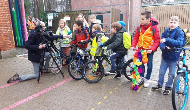 Lagere school Sint-Jozef opent eerste fietsstraat van Essen