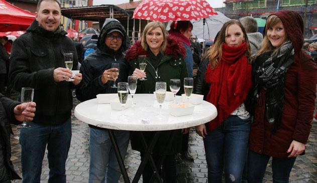 Regen spelbreker op nieuwjaarsdrink