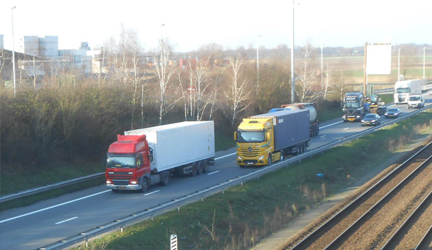 Eénvormig inhaalverbod op Havenweg-A12